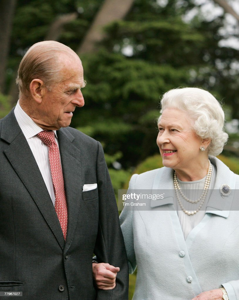 In this image, made available November 18, 2007, HM The Queen <a gi-track='captionPersonalityLinkClicked' href=/galleries/search?phrase=Elizabeth+II&family=editorial&specificpeople=67226 ng-click='$event.stopPropagation()'>Elizabeth II</a> and <a gi-track='captionPersonalityLinkClicked' href=/galleries/search?phrase=Prince+Philip&family=editorial&specificpeople=92394 ng-click='$event.stopPropagation()'>Prince Philip</a>, The Duke of Edinburgh re-visit Broadlands, to mark their Diamond Wedding Anniversary on November 20. The royals spent their wedding night at Broadlands in Hampshire in November 1947, the former home of <a gi-track='captionPersonalityLinkClicked' href=/galleries/search?phrase=Prince+Philip&family=editorial&specificpeople=92394 ng-click='$event.stopPropagation()'>Prince Philip</a>'s uncle, Earl Mountbatten.