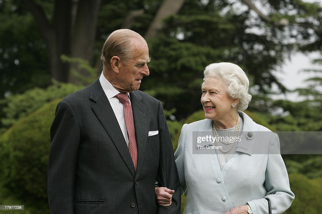 In this image, made available November 18, 2007, HM The Queen Elizabeth II and Prince Philip, The Duke of Edinburgh re-visit Broadlands, to mark their Diamond Wedding Anniversary on November 20. The royals spent their wedding night at Broadlands in Hampshire in November 1947, the former home of Prince Philip's uncle, Earl Mountbatten.