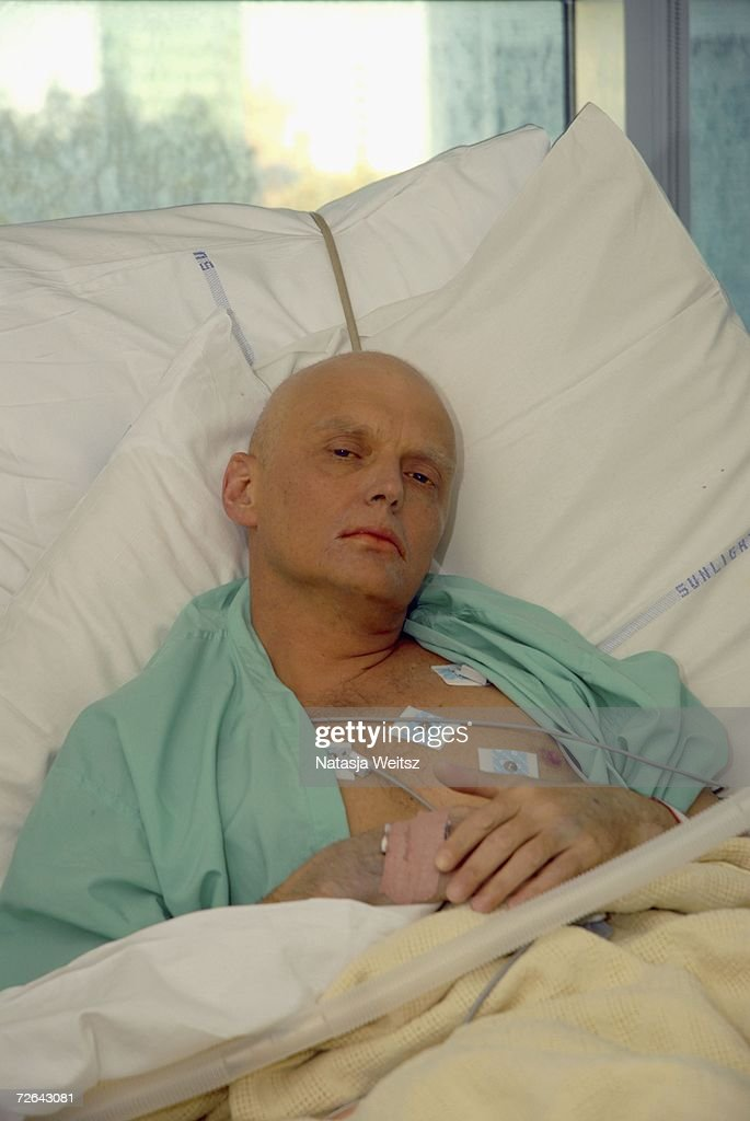 In this image made available on November 25, 2006, <a gi-track='captionPersonalityLinkClicked' href=/galleries/search?phrase=Alexander+Litvinenko&family=editorial&specificpeople=2926201 ng-click='$event.stopPropagation()'>Alexander Litvinenko</a> is pictured at the Intensive Care Unit of University College Hospital on November 20, 2006 in London, England. The 43-year-old former KGB spy who died on Thursday 23rd November, accused Russian President Vladimir Putin in the involvement of his death. Mr Litvinenko died following the presence of the radioactive polonium-210 in his body. Russia's foreign intelligence service has denied any involvement in the case.