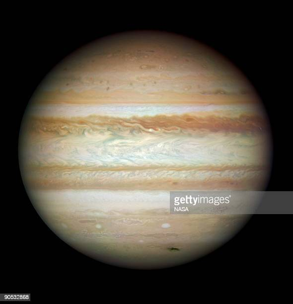 In this image provided by NASA ESA and the Hubble SM4 ERO Team the planet Jupiter is pictured July 23 2009 in Space Today September 9 NASA released...