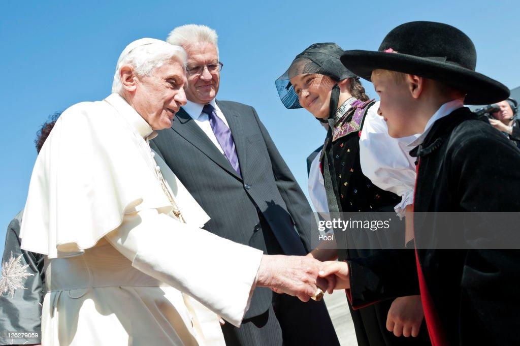 Pope Benedict XVI Visits Freiburg