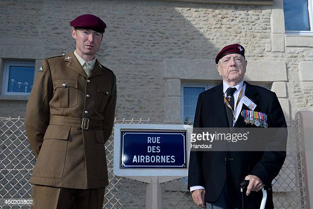 In this image provided by the Ministry of Defence 3rd Battalion Parachute Regiment Private William Byers of Cockermouth in Cumbria and DDay Veteran...