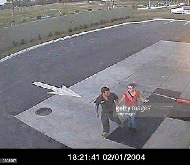 In this image provided by the Sarasota County Sheriff's Office kidnap victim Carlie Brucia 11yearsold is shown being led away by an unidentified man...