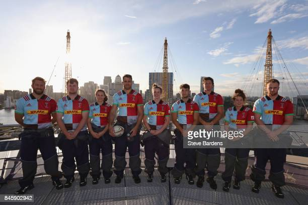 In this image released by DHL on September 12 2017 Chris Robshaw George Head Jess Wooden James Horwill Hannah Field Max Coyle Charlie Matthews Jess...