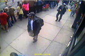 In this image released by the Federal Bureau of Investigation on April 18 two suspects in the Boston Marathon bombing walk near the marathon finish...
