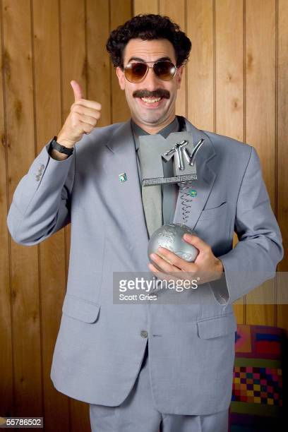 In this image Sacha Baron Cohen in character as Borat poses at a studio session as he is announced today September 27 as host of this year's MTV...