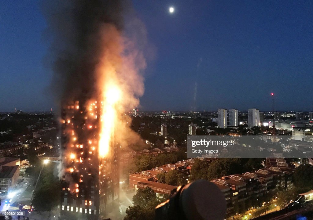 27-Storey Grenfell Tower Block On Fire In West London : News Photo
