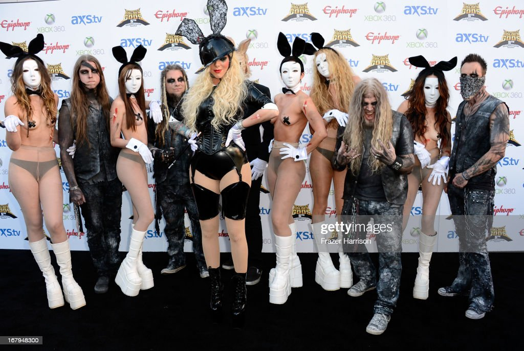 In this Moment Chris Howrth and Maria Brink arrive at the 5th Annual Revolver Golden Gods Award Show at Club Nokia on May 2, 2013 in Los Angeles, California.