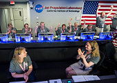 In this NASA handout From left to right Jack Connerney Juno deputy principal investigator and magnetometer lead coinvestigator NASA's Goddard Space...