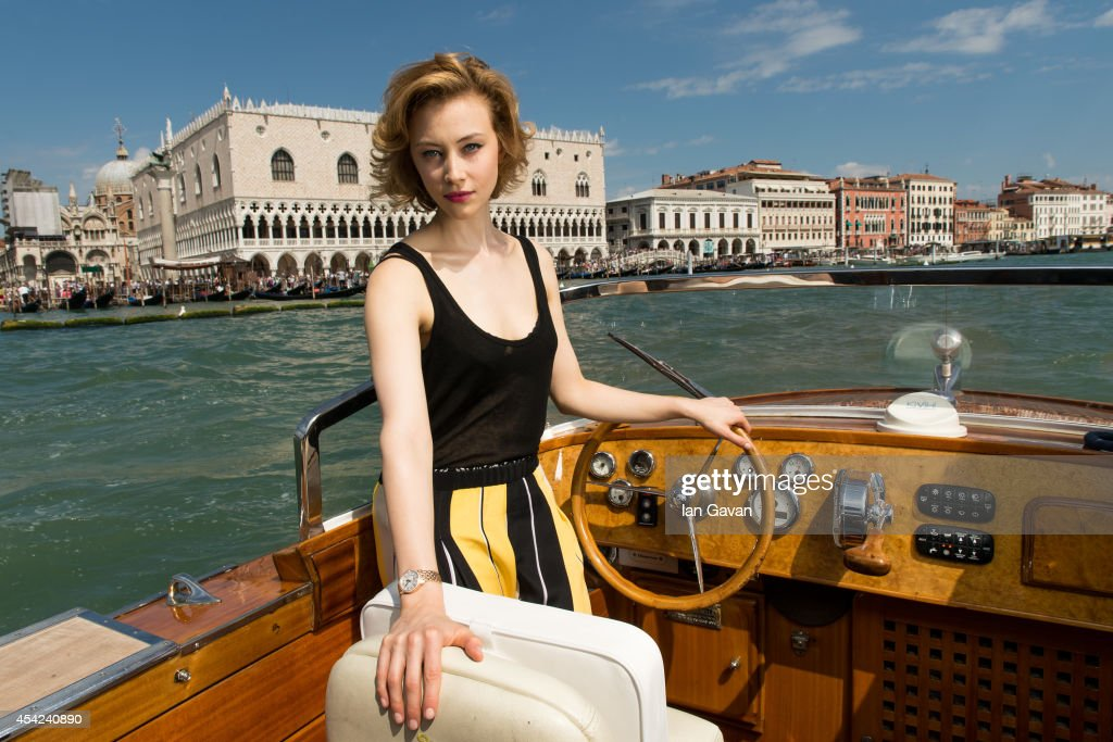 In this newly released image actress Sarah Gadon poses for a portrait for JaegerLeCoultre before attending the 'Joe' film premiere during the 70th...