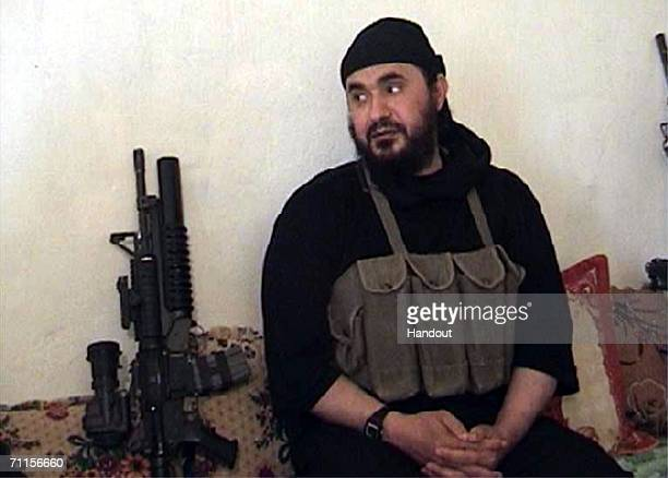 In this photo from the US Department of Defense the alQaida leader in Iraq Abu Musab alZarqawi is seenUS warplanes dropped 500pound bombs on a...