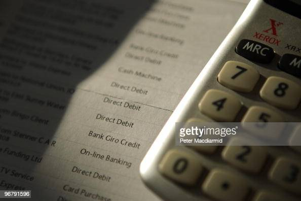 In this photo illustration a calculator is displayed with a bank statement on February 17 2010 in London England As the UK gears up for one of the...