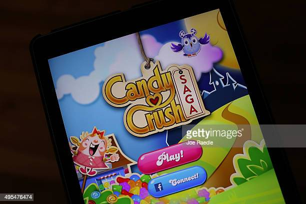 In this photo illustration a Candy Crush game is seen on an iPad on November 3 2015 in Miami Florida It was announced today that game maker...