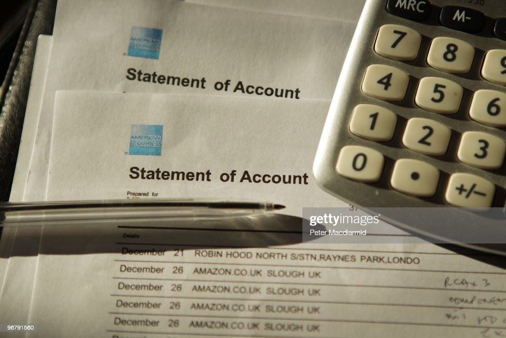 In this photo illustration a collection of American Express credit card statements is displayed on February 17 2010 in London England As the UK gears...