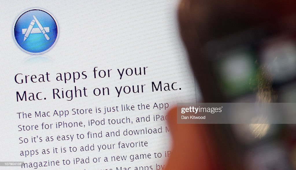 In this photo illustration, a computer in a coffee shop displays onscreen the new Apple App store launched today on January 6, 2011 in London, England. The site hopes to transfer the success of its iPhone app store to desktop and laptop computers.