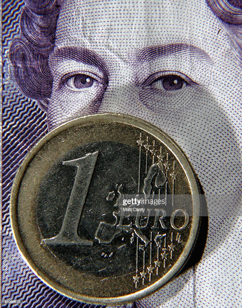 In this photo illustration a Euro coin lies on a 20 GBP note on December 17, 2008 in Bristol, England. The British Pound is currently at its lowest value ever against the Euro, trading below 1.10 Euros this morning, after it was revealed that the Bank of England considered a bigger interest rate than the one delivered two weeks ago.