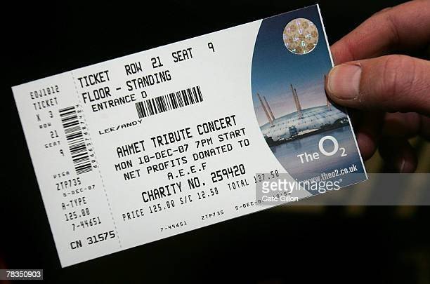 In this photo illustration a fan holds a ticket for the Led Zeppelin concert on December 10 2007 in London Led Zeppelin have not performed in public...