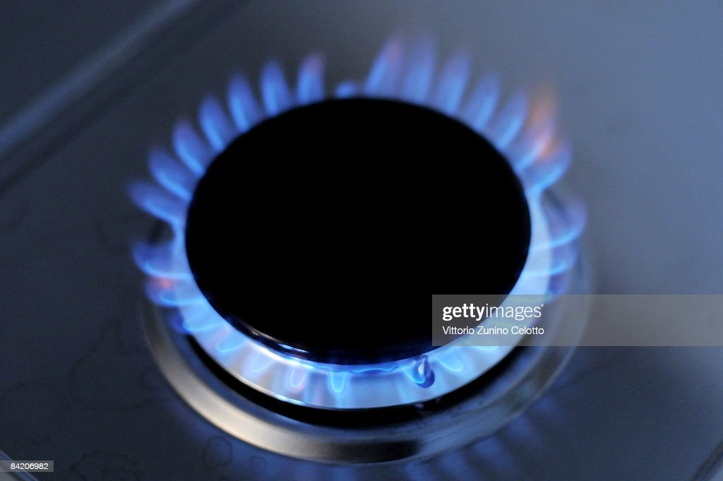 In this photo illustration a gas ring on a domestic stove powered by natural gas is alight on January 8 2009 in Milan Italy On New Year's Day Russia...
