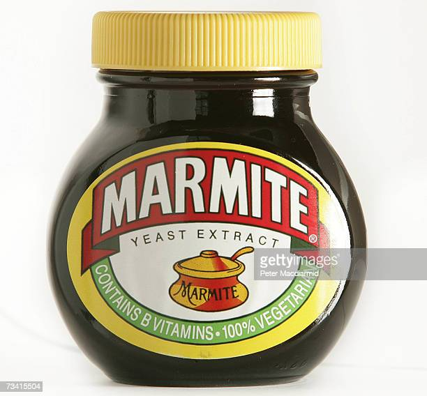 In this photo illustration a jar of Marmite spread is seen on February 25 2007 in London Marmite have launched a special edition Guinness version of...