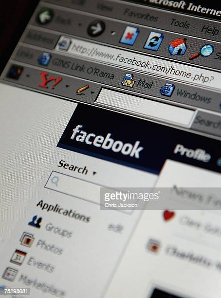 In this photo illustration a lap top is logged onto the social networking site Facebook on July 10 2007 in London England Facebook has been rapidly...