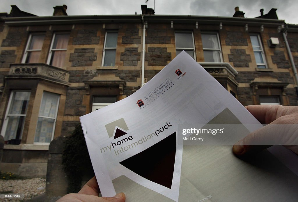 In this photo illustration a man looks at a home information pack (Hip) outside properties on May 20, 2010 in Bath, England. The new coalition government announced today, that as of midnight tonight, home sellers will no longer need to pay for a Hip when putting their property on the market. Hips, have been controversial since they were introduced in 2007 and are mandatory for anyone selling a home. Estate agents have claimed they add unnecessary red tape to the selling process, and cost sellers an additional 200-400 GBP. However the Association of Home Information Pack Providers claim between 3,000 and 10,000 people livelihoods now depend on Hips.