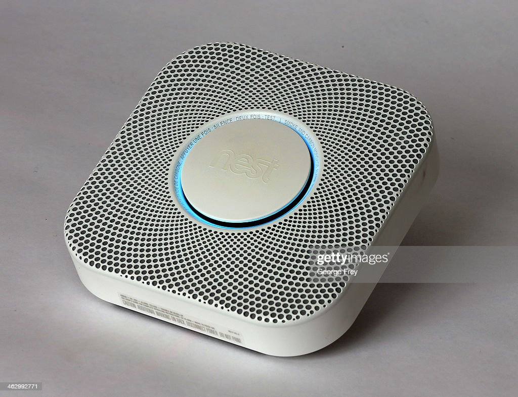 In this photo illustration, a Nest smoke/carbon monoxide detector is seen on January 16, 2014 in Provo, Utah. Google bought Nest, a home automation company, for $3.2 billion taking Google further into the home ecosystem.