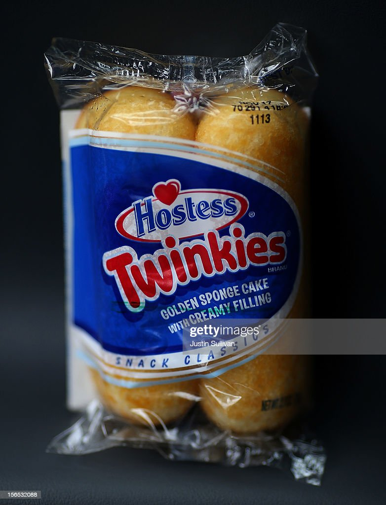 In this photo illustration, a package of Hostess Twinkies is displayed on November 16, 2012 in San Leandro, California. Hostess Brands, the maker of Twinkies, Ding Dongs and Wonder Bread, announced plans to liquidate its assets and lay off nearly 18,500 employees due to a workers strike brought on by an imposed contract that would cut workers' wages by 8 percent.