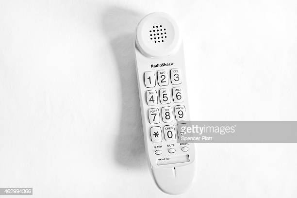 In this photo illustration a RadioShack telephone is shown on February 8 2015 in Westport Connecticut RadioShack which filed for Chapter 11...