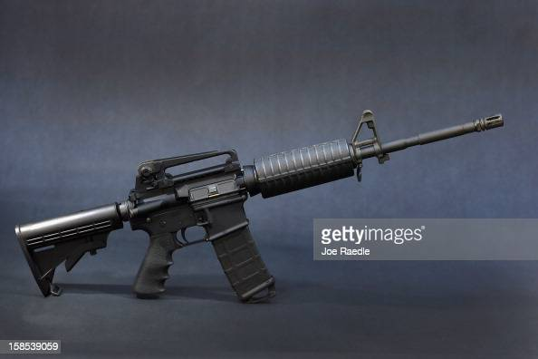 In this photo illustration a Rock River Arms AR15 rifle is seen on December 18 2012 in Miami Florida The weapon is similar in style to the Bushmaster...