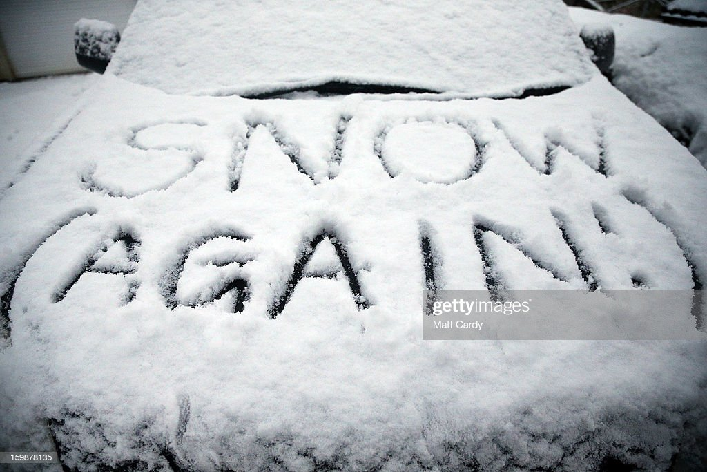 In this photo illustration a snow covered car is seen in Holcombe on January 22, 2013 in Somerset, England. Snow and ice is continuing to cause disruption to some parts of the UK with more snow forecast for the South West tonight.