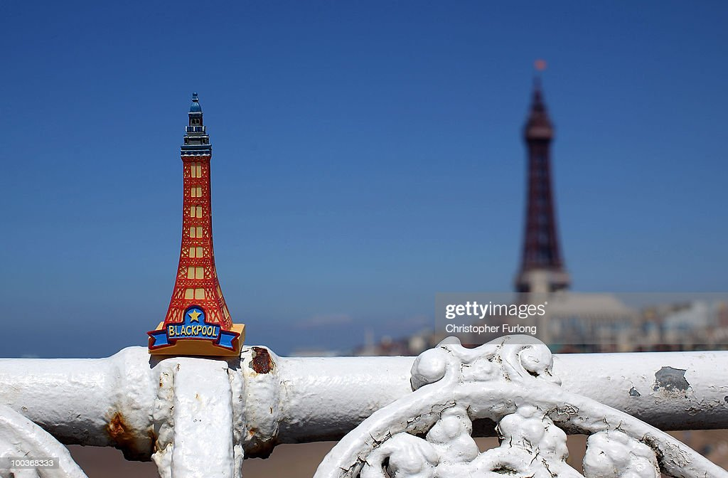In this photo illustration a souvenir model of Blackpool Tower stands in the sunshine after it was announced that a refuribishment grant is to be axed by the government on May 24, 2010 in Blackpool, England. Chancellor George Osborne has announced that Blackpool Tower's 8 million GBP refurbishment payout is to be axed to help cut the UK�s 156 billion GBP budget deficit.