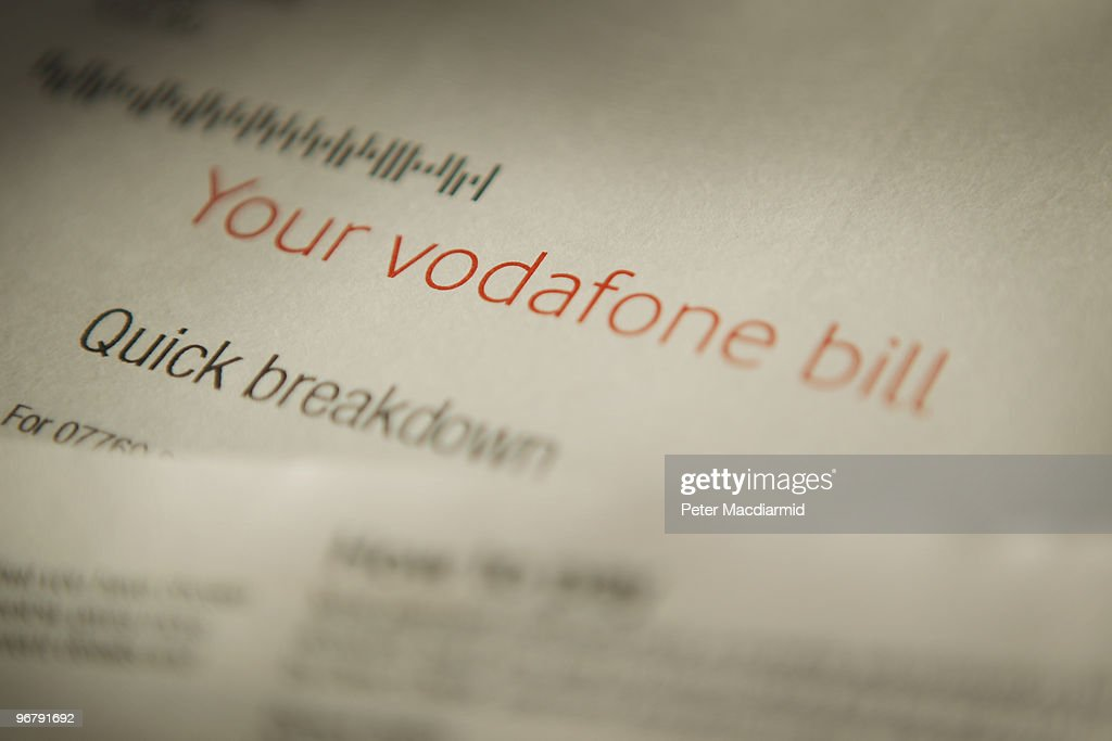 In this photo illustration a Vodafone mobile phone bill statement is displayed on February 17 2010 in London England As the UK gears up for one of...