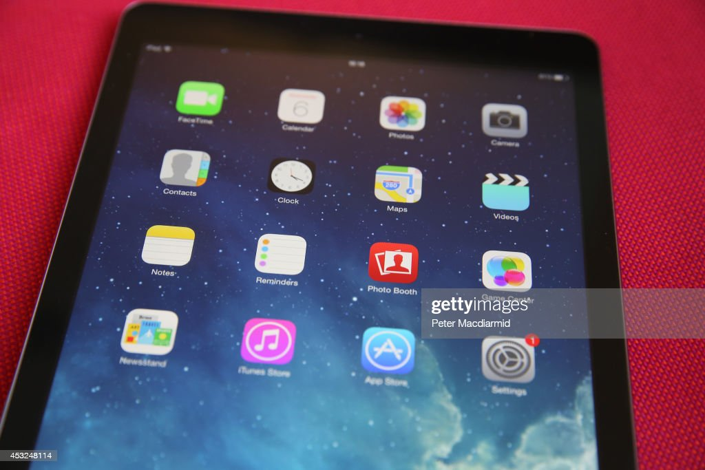 In this photo illustration an Apple iPad displays it's home screen on August 6 2014 in London England iPad maker Apple is selling fewer units than in...