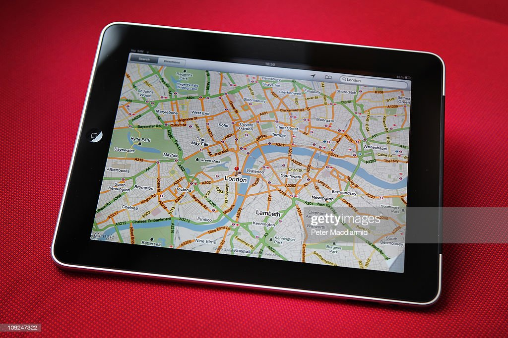 In this photo illustration, an Apple ipad tablet displays a map of London on February 17, 2011 in London, England. Apple sold two million ipads in the first two months of their launch in 2010. Worldwide iPad sales are expected to amount to 20 million in 2012.