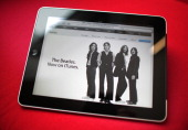 In this photo illustration an Apple ipad tablet displays a web page from the itunes store on February 17 2011 in London England Apple sold two...
