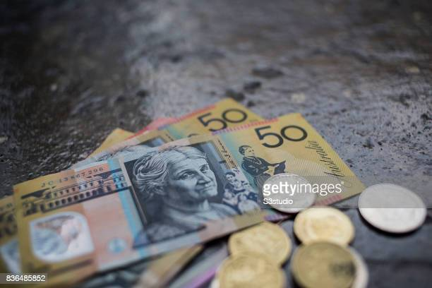 In this photo illustration Australian dollar banknotes and coins are pictured on 20 August 2017 in Hong Kong Hong Kong