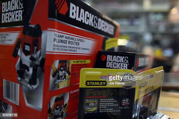 In this photo illustration Black Decker tools are seen with Stanley tools at Shell Lumber and Hardware on November 3 2009 in Miami Florida The tool...