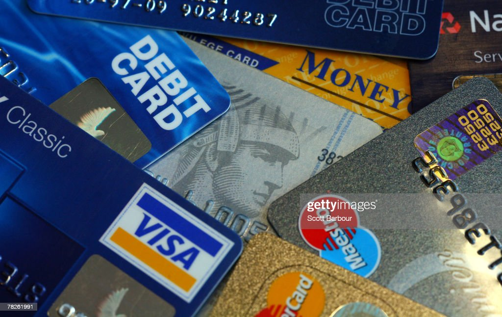 In this photo illustration credit cards are pictured December 5, 2007 in London, England. The British economy is beginning to feel the effects of the credit crisis which began this year. House prices have begun to fall and the retail sector is predicting a difficult Christmas period.