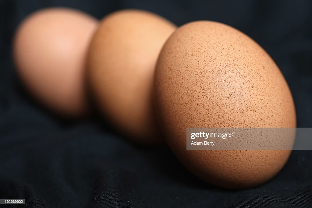 In this photo illustration, eggs sold as organic are seen on February 25, 2013 in Berlin, Germany. According to a report, hundreds of egg-providing companies in the country are inaccurately describing their products as organic ('bio' in German), a mislabeling due to the producers exceeding the permitted maximum number of chickens allowed to be kept in their cages at one time to be able to receive the official certification.
