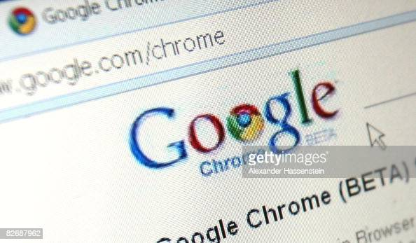 In this photo illustration Google's Chrome Google Inc's new Web browser is displayed on an laptop