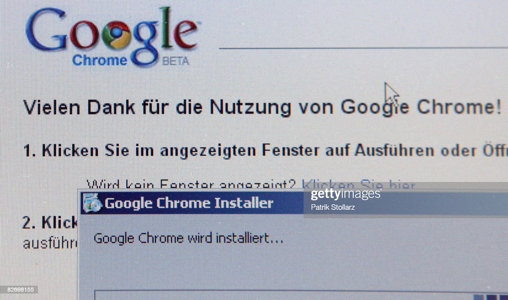 In this photo illustration, Google's new Internet Browser 'Chrome' is seen on a laptop screen on September 7, 2008 in Berlin, Germany. Google launched the new webbrowser in the year of the 10th anniversary of Internet search machine Google.