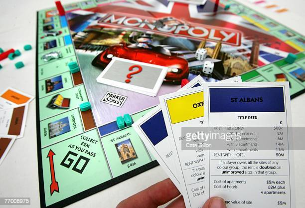 In this photo illustration Here and Now UK Edition Monopoly is pictured on September 25 2007 in London England Over one million votes from members of...