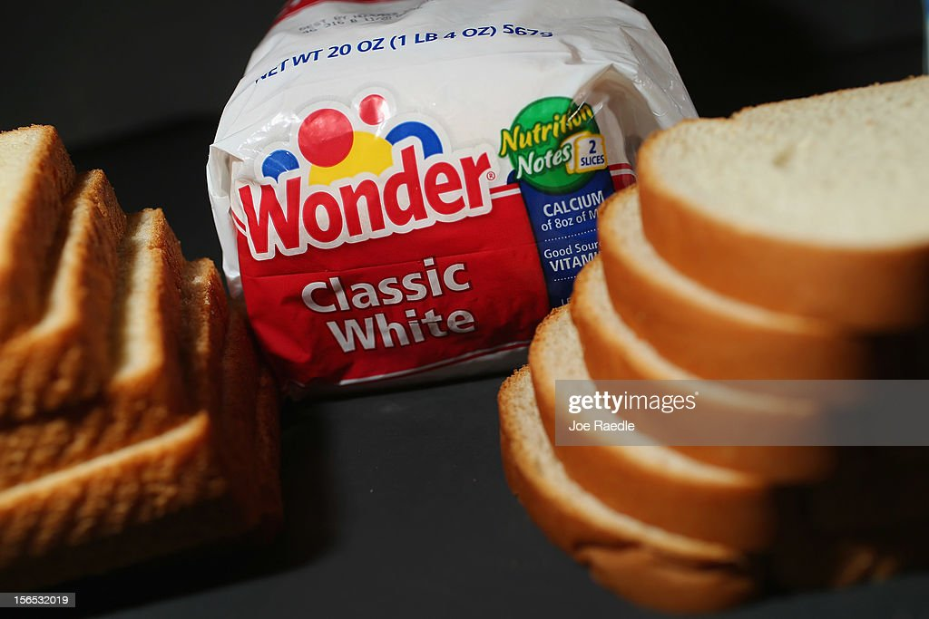 In this photo illustration, Hostess Brand Wonder Bread is shown on November 16, 2012 in Miami, Florida. Hostess Brands Inc. decided to liquidate its business after striking workers with the Bakery, Confectionery, Tobacco Workers and Grain Millers International Union didn't return to normal work levels as the company management had demanded.