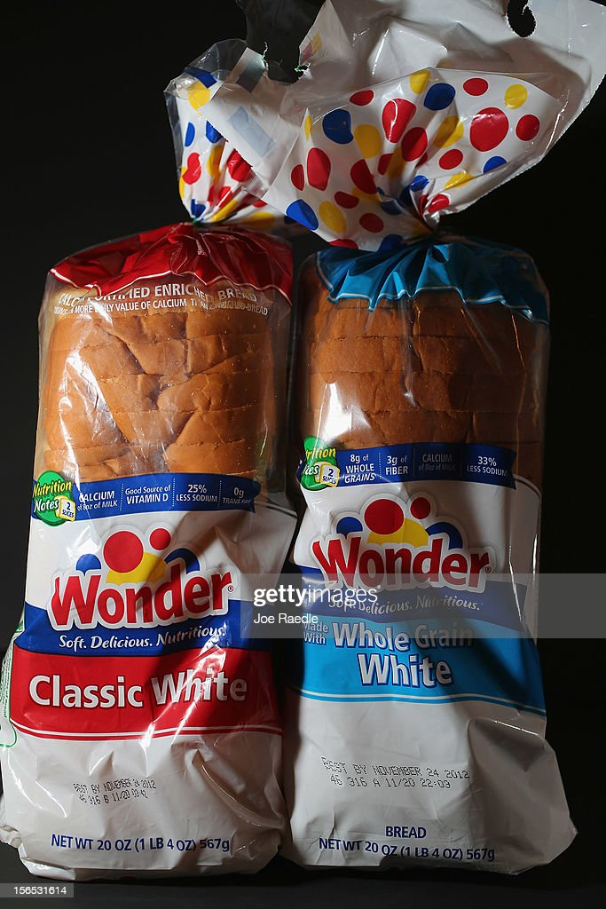 In this photo illustration, Hostess Brand Wonder Bread products are shown on November 16, 2012 in Miami, Florida. Hostess Brands Inc. decided to liquidate its business after striking workers with the Bakery, Confectionery, Tobacco Workers and Grain Millers International Union didn't return to normal work levels as the company management had demanded.
