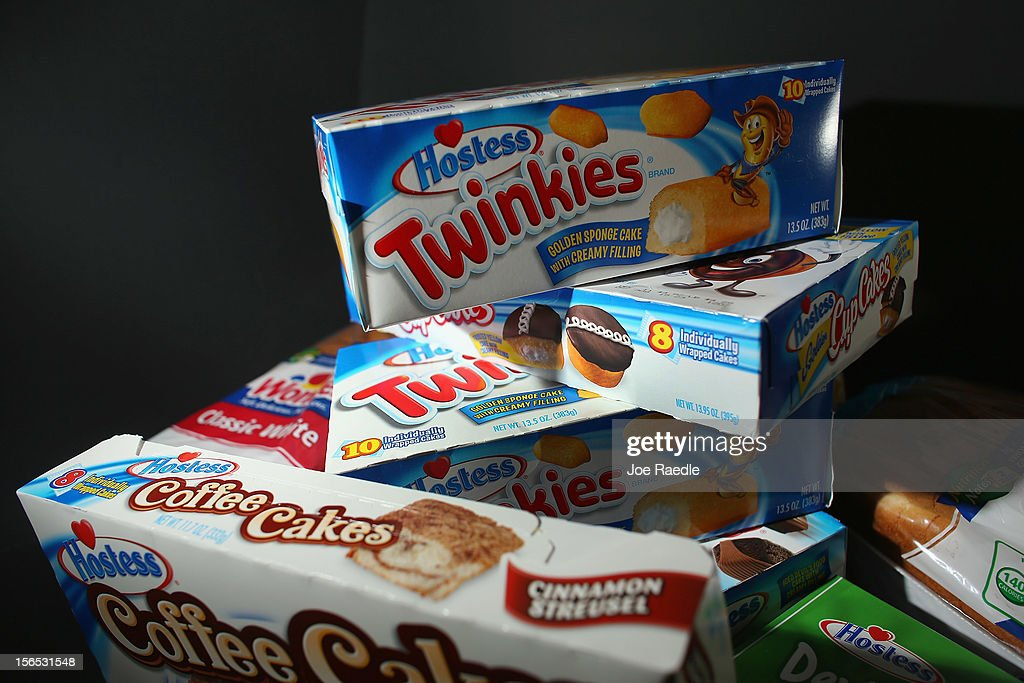In this photo illustration, Hostess Brands products are shown on November 16, 2012 in Miami, Florida. Hostess Brands Inc. decided to liquidate its business after striking workers with the Bakery, Confectionery, Tobacco Workers and Grain Millers International Union didn't return to normal work levels as the company management had demanded.