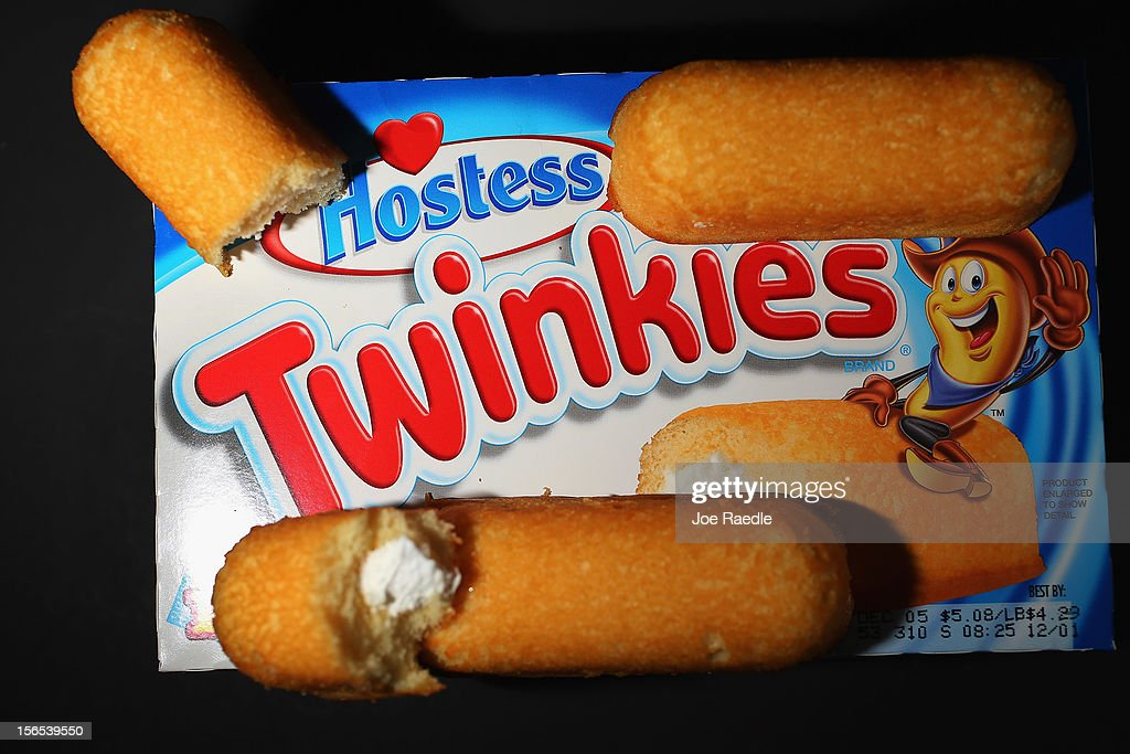 In this photo illustration, Hostess Brands Twinkies products are shown on November 16, 2012 in Miami, Florida. Hostess Brands Inc. decided to liquidate its business after striking workers with the Bakery, Confectionery, Tobacco Workers and Grain Millers International Union didn't return to normal work levels as the company managment had demanded.
