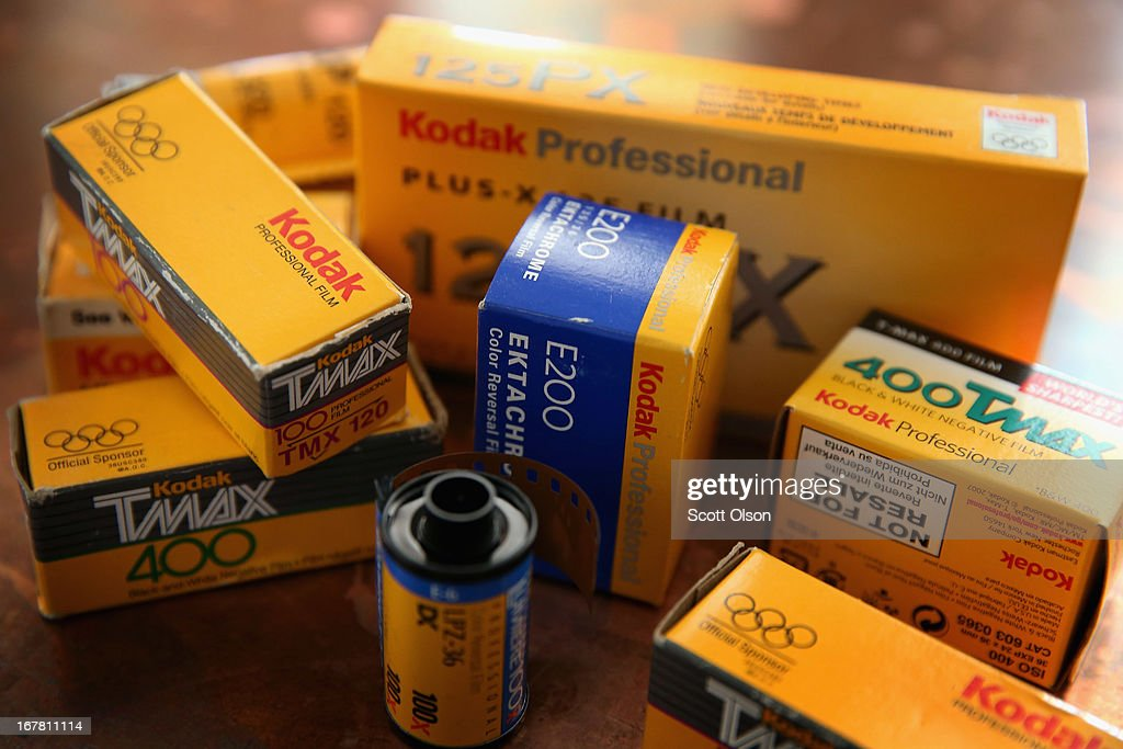 In this photo illustration, Kodak film is seen on April 30, 2013 in Chicago, Illinois. Eastman Kodak Co. has reached a deal to turn over the company's film business to U.K. Kodak Pension Plan to eliminate a $2.8 billion pension obligation. Kodak, which once had a 90 percent market share of U.S. film sales, filed for bankruptcy last year.