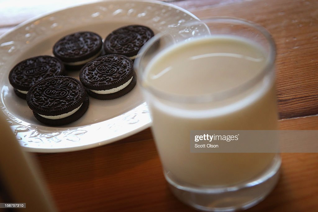 In this photo illustration, milk and cookies sit on a counter on December 27, 2012 in Chicago, Illinois. Milk prices could spike to $6 to $8 a gallon in January if lawmakers fail to reach a 'fiscal cliff' deal and renew a Farm Bill that's been in place since 2008 and sets the price at which the government buys milk.