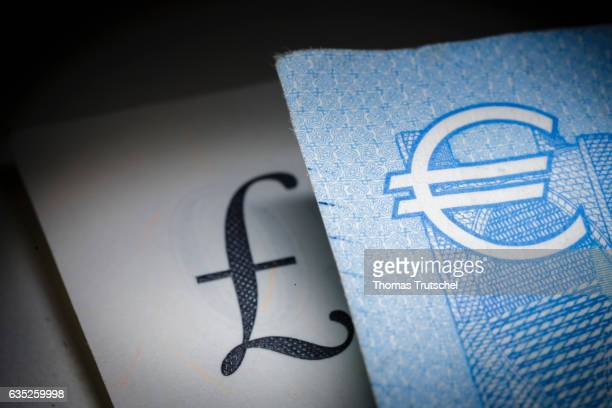 In this Photo Illustration pound sterling and Euro bills lying on a table on February 14 2017 in Berlin Germany