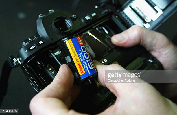 In this photo illustration products from the photographic company Kodak are displayed following the announcement on October 5 that the company are to...